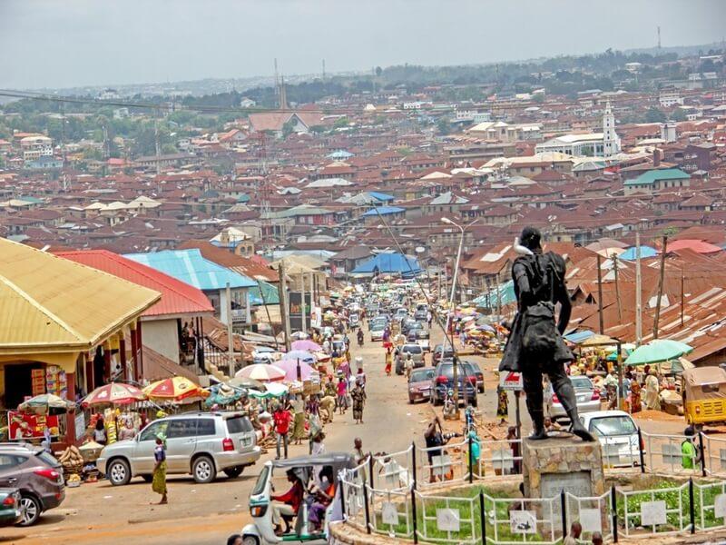 The city of Ibadan Nigeria